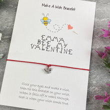 Load image into Gallery viewer, Personalised Bee My Valentine Wish Bracelet-7-The Persnickety Co