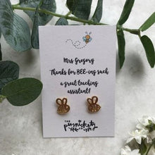 Load image into Gallery viewer, Thanks For BEE-ing Such A Great Teacher /Teaching Assistant Bee Earrings-5-The Persnickety Co
