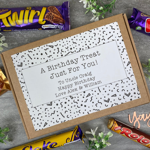 Personalised Birthday Treat Chocolate Box-The Persnickety Co