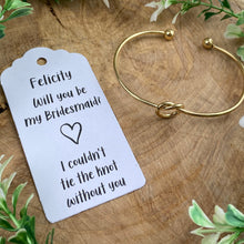 Load image into Gallery viewer, Will You Be My Bridesmaid Knot Bangle-8-The Persnickety Co