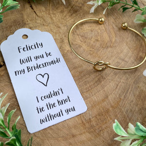 Will You Be My Bridesmaid Knot Bangle-8-The Persnickety Co