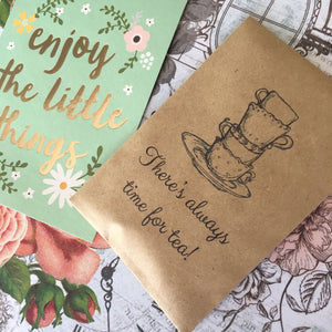 There's Always Time For Tea Mini Kraft Envelope with Tea Bag-2-The Persnickety Co