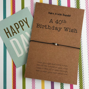 A 40th Birthday Wish - Star-9-The Persnickety Co