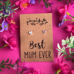 Best Mum Ever - Heart Earrings - Gold / Rose Gold / Silver-7-The Persnickety Co