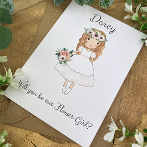 Wedding Card - Will You Be Our Flower Girl?-4-The Persnickety Co