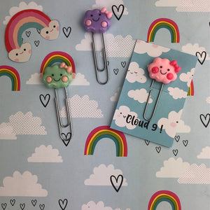 Happy Cloud Resin Paper Clip-3-The Persnickety Co