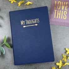 Load image into Gallery viewer, My Thoughts Journal Navy Blue-10-The Persnickety Co