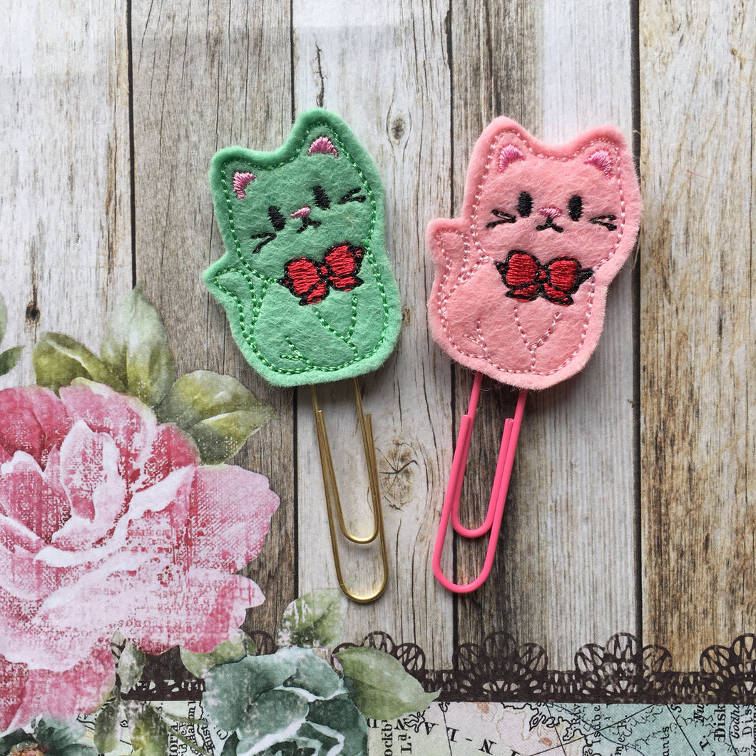 Felt Cat Paper Clip-The Persnickety Co