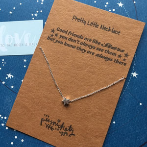 Good Friends Are Like Stars Silver/Gold Necklace-2-The Persnickety Co