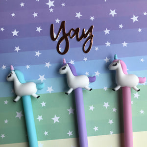Pastel Unicorn Gel Pen-7-The Persnickety Co