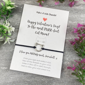 Happy Valentines Purr-Fect Cat Mum - Wish Bracelet-4-The Persnickety Co