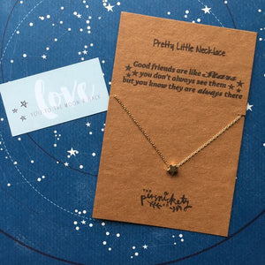 Good Friends Are Like Stars Silver/Gold Necklace-3-The Persnickety Co