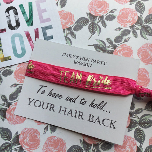 Hen Party Wristband / Hair Tie - Bride Tribe / Team Bride FREE wristband-The Persnickety Co