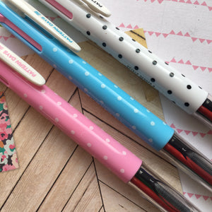 Polka Dot 4 Colour Ballpoint Pen-4-The Persnickety Co
