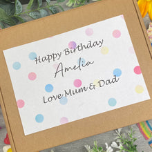 Load image into Gallery viewer, Happy Birthday Personalised Sweet Box-The Persnickety Co