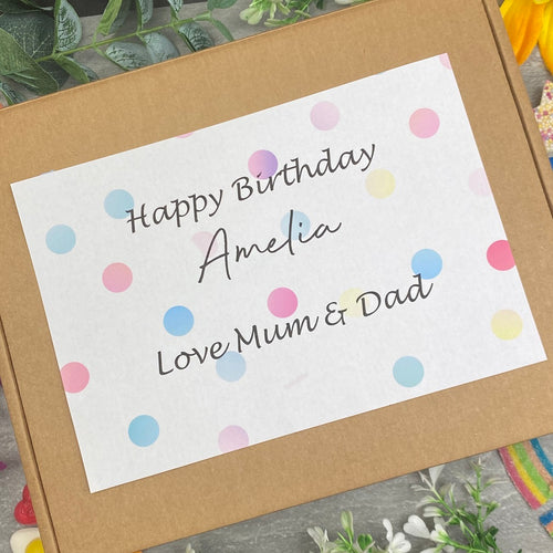Happy Birthday Personalised Sweet Box-The Persnickety Co