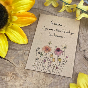Grandma If You Were A Flower Mini Envelope with Wildflower Seeds-7-The Persnickety Co