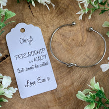 Load image into Gallery viewer, Friendship Is A Knot Bangle-2-The Persnickety Co