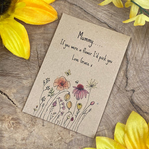 Mummy If You Were A Flower Mini Kraft Envelope with Wildflower Seeds-8-The Persnickety Co