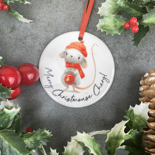 Personalised Christmouse Hanging Decoration-The Persnickety Co