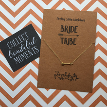 Load image into Gallery viewer, Bride Tribe Arrow Necklace-2-The Persnickety Co