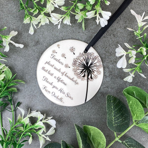 Personalised Teacher Hanging Decoration-The Persnickety Co
