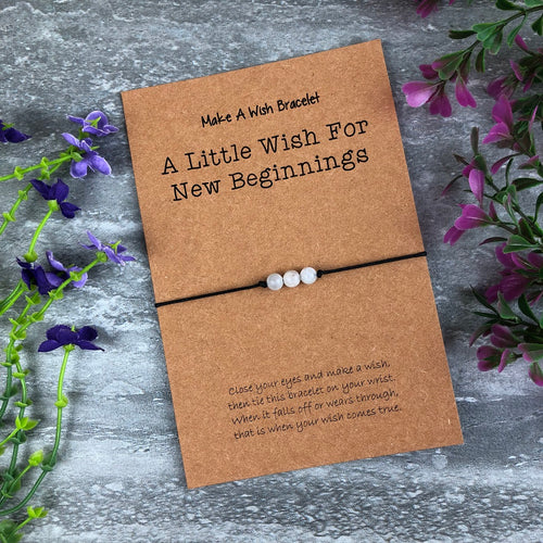 A Little Wish For New Beginnings Wish Bracelet-The Persnickety Co