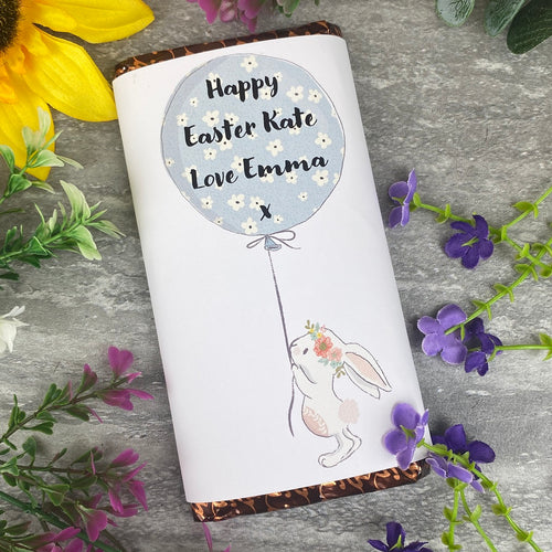 Cute Easter Bunny Personalised Chocolate Bar-The Persnickety Co