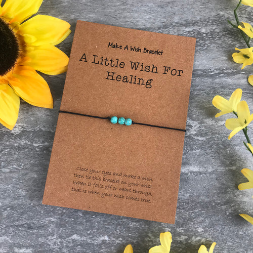 A Little Wish For Healing - Turquiose-The Persnickety Co