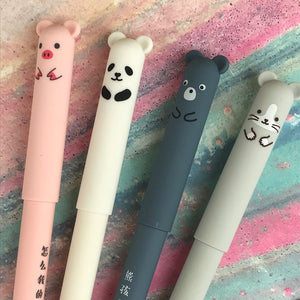 Cute Big Ear Animal Gel Pen - Pig/Panda/Bear/Mouse-3-The Persnickety Co