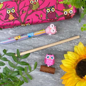 Owl Stationery Set - Pink-4-The Persnickety Co