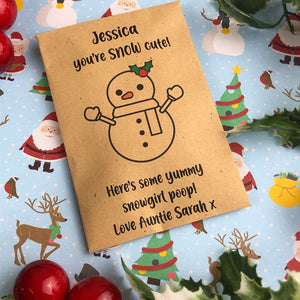 Personalised Snowgirl Poop-6-The Persnickety Co
