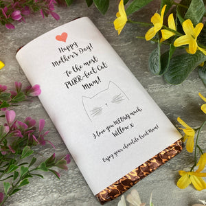 Purrfect Cat Mum Mothers Day Chocolate Bar