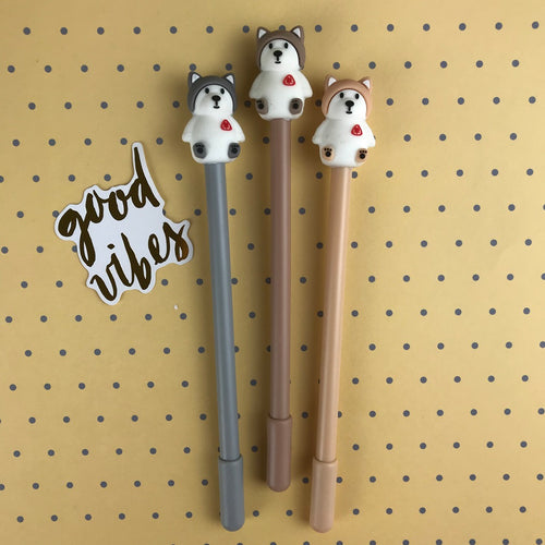 Cute Husky Gel Pen-The Persnickety Co