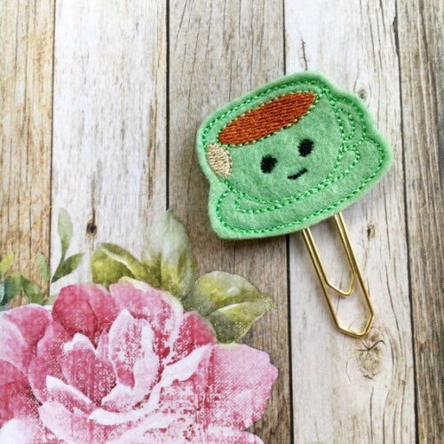 Green Felt Teacup Paper Clip-The Persnickety Co
