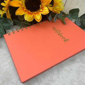 Coral Spiral Bound Notebook