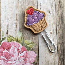 Load image into Gallery viewer, Felt Cupcake Paper Clip-The Persnickety Co