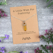 Load image into Gallery viewer, Crystal Necklace - A Little Wish For Positivity-The Persnickety Co
