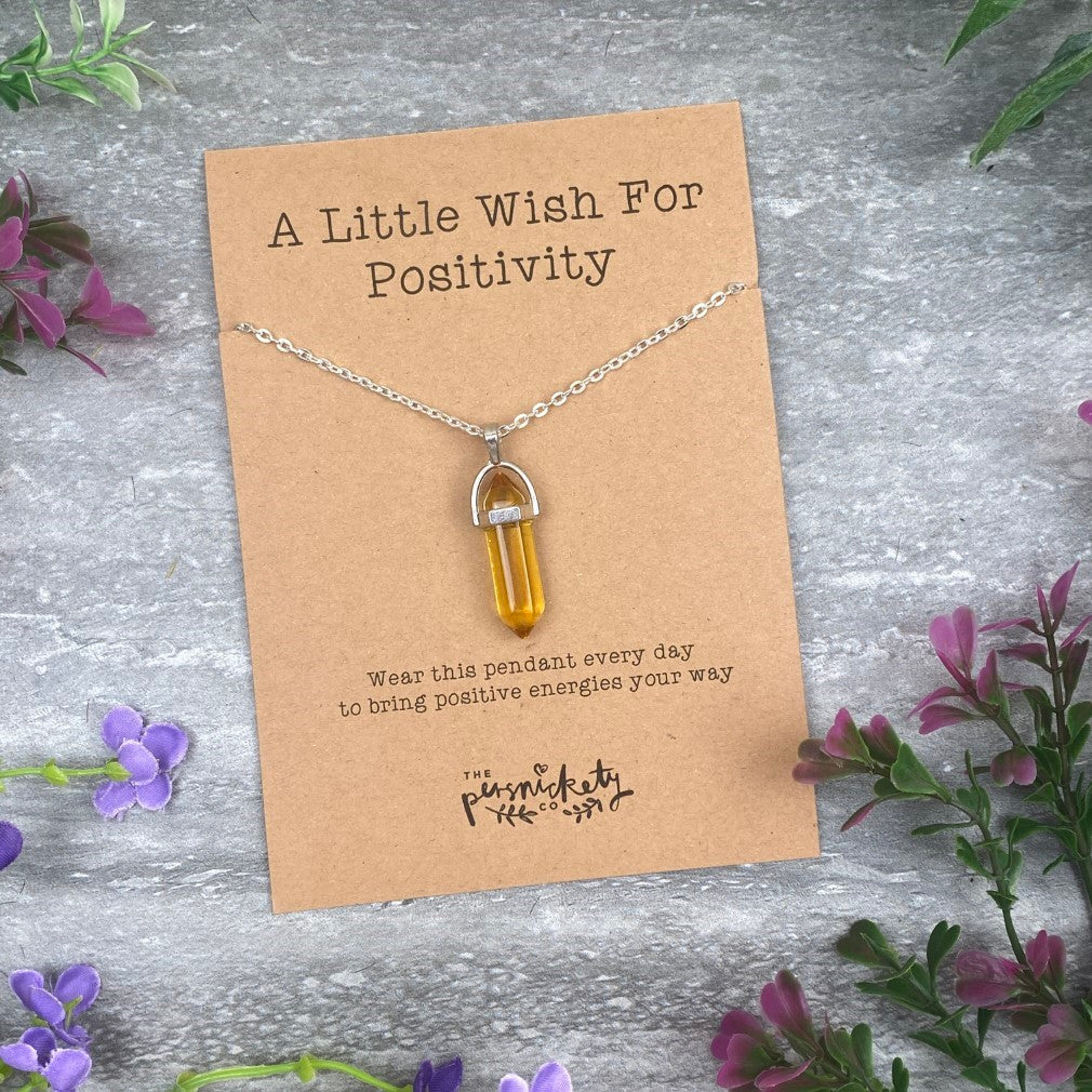 Crystal Necklace - A Little Wish For Positivity-The Persnickety Co
