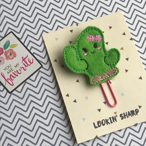 Cute Felt Cactus Paper Clip-The Persnickety Co