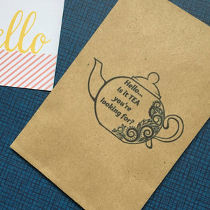 Hello ..is it TEA your looking for? Mini Kraft Envelope with Tea Bag-2-The Persnickety Co
