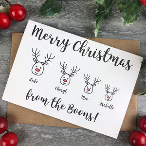 Personalised Reindeer Cards-The Persnickety Co