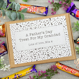 Grandad Fathers Day Treat - Personalised Chocolate Box-3-The Persnickety Co