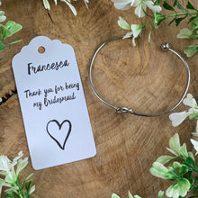 Load image into Gallery viewer, Knot Bangle - Thank You For Being My Bridesmaid-8-The Persnickety Co
