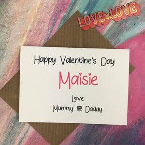 Personalised Happy Valentine's Day From Mummy And Daddy Card-2-The Persnickety Co