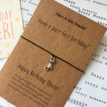 Load image into Gallery viewer, Have A Purr-fect Birthday Wish Bracelet-3-The Persnickety Co