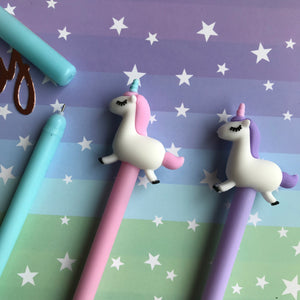 Pastel Unicorn Gel Pen-3-The Persnickety Co