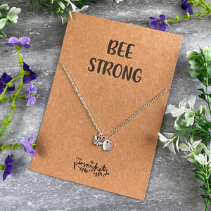 Bee Strong Necklace-6-The Persnickety Co