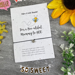 Mummy To Bee Wish Bracelet On Plantable Seed Card-4-The Persnickety Co