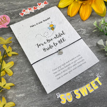 Load image into Gallery viewer, Bride To Bee Wish Bracelet On Plantable Seed Card-4-The Persnickety Co